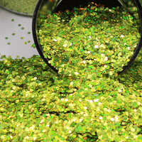 Ivy Green Chunky Holographic Glitter, Polyester Glitter - 1oz/30g