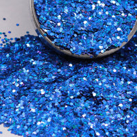 Royal Blue Chunky Holographic Glitter, Polyester Glitter - 1oz/30g