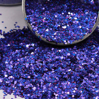 Purple Chunky Holographic Glitter, Polyester Glitter - 1oz/30g