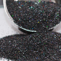 Black Magic Extra Fine Holographic Glitter, Polyester Glitter - 1oz/30g