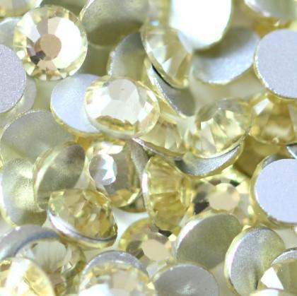 SS6/2mm Light Citrine Glass Round Flat Back Loose Rhinestones - 1440pcs