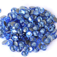 SS16/4mm Light Sapphire Blue Glass Round Flat Back Loose HOTFIX Rhinestones - 1440pcs