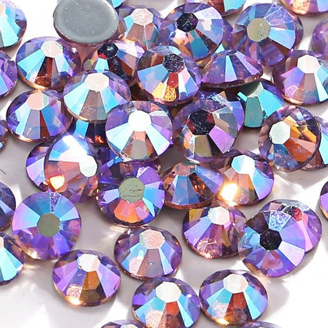 Light Purple AB Crystal Glass Rhinestones - SS30, 288 Pieces - 6mm Flatback, Round, Loose Bling - TheDecoKraft - 1