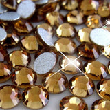 SS34/7mm Light Topaz Glass Round Flat Back Loose Rhinestones - 288pcs