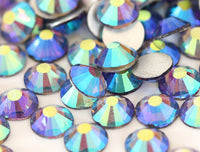 Mint Purple AB Glass Crystal Glass Rhinestone - SS12, 1440 pieces - 3mm Flatback, Round, Loose Bling - TheDecoKraft - 1
