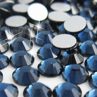 SS34/7mm Montana Blue Glass Round Flat Back Loose Rhinestones - 288pcs