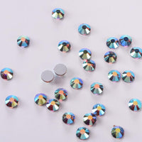 SS16/4mm Blue Shadow Crystal AB Glass Round Flat Back Loose Rhinestones - 1440pcs