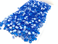 SS16/4mm NEON Blue Glass Round Flat Back Loose Rhinestones - 1440pcs