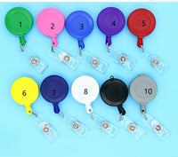 10 Piece Badge Reels , Hard Plastic Retractable Badge Reels