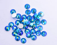 SS3/1mm Dark Aquamarine AB Glass Round Flat Back Loose Rhinestones - 1440pcs