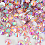 Pink AB Glass Rhinestones - SS6, 1440 pieces - 2mm Flatback, Round, Loose Bling - TheDecoKraft - 2