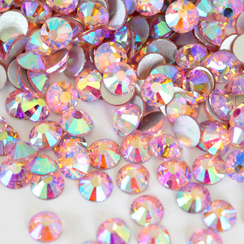 Pink AB Crystal Glass Rhinestones - SS16, 1440 pieces - 4mm Flatback, Round, Loose Bling - TheDecoKraft - 2