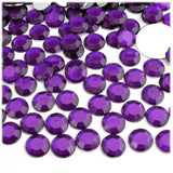 4mm Purple Resin Round Flat Back Loose Rhinestones