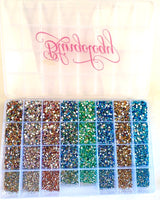 2mm - 5mm Assorted AB Resin Round Flat Back Loose Rhinestones