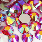 SS16/4mm Light Siam Red AB Glass Round Flat Back Loose Rhinestones - 1440pcs