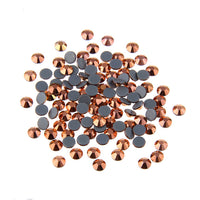 Mixed Rose Gold Glass Round Flat Back Loose HOTFIX Rhinestones - 400pcs