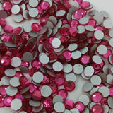 Rose Dark Pink Glass Crystal Glass Rhinestone - SS12, 1440 pieces - 3mm Flatback, Round, Loose Bling (TDK-GR1344) - TheDecoKraft - 1