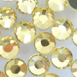 Light Citrine Yellow Glass Rhinestones - SS6, 1440 pieces - 2mm Flatback, Round, Loose Bling - TheDecoKraft - 4