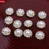 12mm Rhinestone Silver Flatback Buttons (NO SHANK) Embellishments Wedding Bridal Hair Accessory Flower Centers