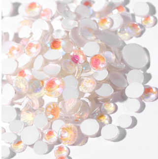SS30/6mm Glow In the Dark White Glass Round Flat Back Loose Rhinestones - 288pcs
