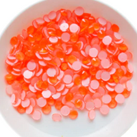 CLEARANCE- SS16/4mm NEON Orange Glass Round Flat Back Loose Rhinestones - 1440pcs