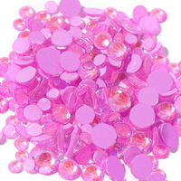 ss3/1mm Glow In the Dark Purple Glass Round Flat Back Loose Rhinestones - 1440pcs