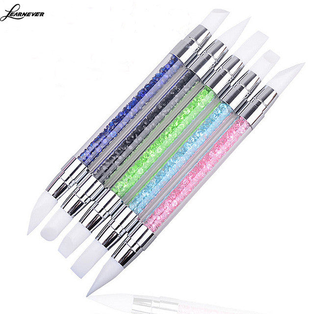 Set 5 Pcs Two Way Dotting Pen Marbleizing Tools Kits Nail Art Dot
