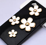 4 Piece Flower Alloy Set Gold Bling Cabochon Alloy Metal Decoden