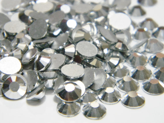 Silver Glass Crystal Rhinestones - SS6, 1440 pieces - 2mm Flatback, Round, Loose Bling - TheDecoKraft - 1