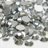SS16/4mm Silver Glass Round Flat Back Loose Rhinestones - 1440pcs