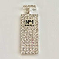 Perfume Bottle Silver Rhinestones Bling Cabochon Alloy Metal Decoden DIY Phone Case Charm TDK-B1071.1