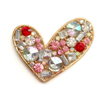 1 Piece Large Heart Flatback Rhinestone Gold Decoden Alloy Bling Cabochon DIY Phone Case Charm Accessories TDK-B1213
