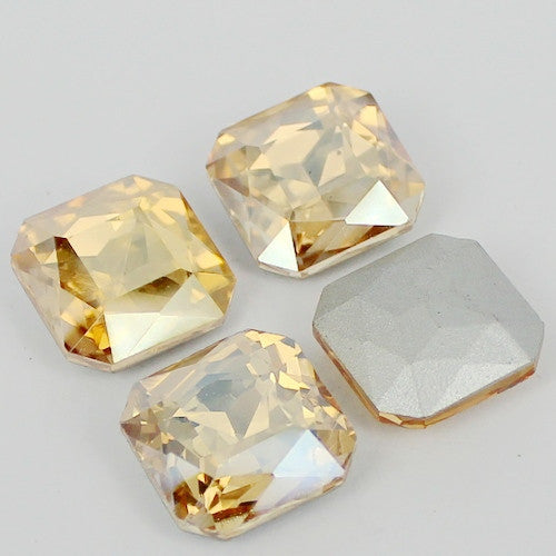 16mm Champagne Glass Square Pointback Chatons Rhinestones - 10pcs