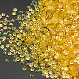 4mm Topaz AB Transparent Jelly Resin Round Flat Back Loose Rhinestones