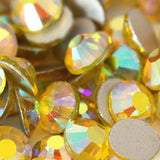 Citrine Yellow AB Crystal Glass Rhinestones - SS30, 288 Pieces - 6mm Flatback, Round, Loose Bling - TheDecoKraft - 2