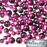 6mm Fuchsia and Dark Coffee Ombre Mermaid Gradient Resin Round Flat Back Loose Pearls - 1000pcs