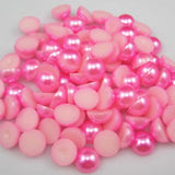 9mm Bubble Gum Pink Resin Round Flat Back Loose Pearls