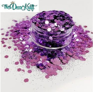Shimmering Lilac Chunky Polyester  Glitter for Tumblers Nail Art Bling Shoes - 1oz/30g