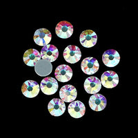 SS6/2mm Clear AB Glass Round Flat Back Loose HOTFIX Rhinestones - 1440pcs