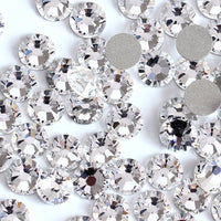 SS34/7mm Clear Glass Round Flat Back Loose Rhinestones - 288pcs