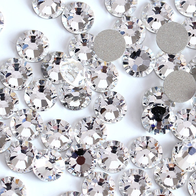 SS40/8mm Clear Glass Round Flat Back Loose Rhinestones - 144pcs