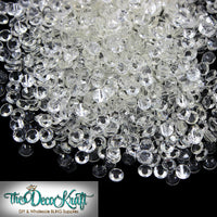 4mm Clear Fully Transparent Resin Flat Back Round Loose Rhinestones