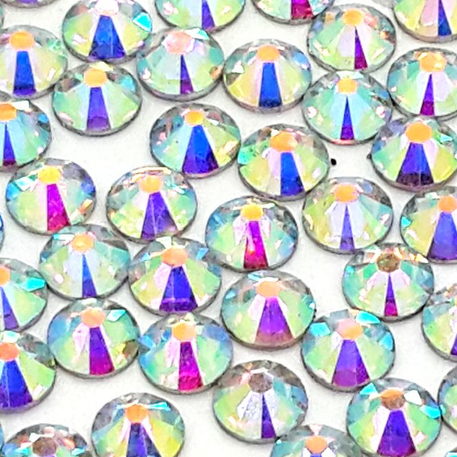 2mm Clear AB Resin Round Flat Back Loose Rhinestones