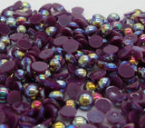 2-10mm Mixed Dark Purple AB Flatback Half Round Pearls - 30 grams / 500 pieces - Loose, Bling, Nail Art, Decoden TDK-P062 - TheDecoKraft