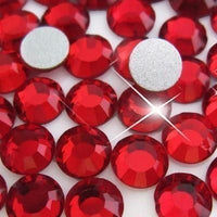 ss3/1mm Dark Siam Red Glass Round Flat Back Loose Rhinestones - 1440pcs