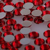 Dark Siam Red Crystal Glass Rhinestones - SS34, 288 pieces - 7mm Flatback, Round, Loose Bling - TheDecoKraft - 2