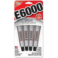 E6000 Clear Multipurpose Industrial Strength Adhesive - 4x .18 oz./5.3ml