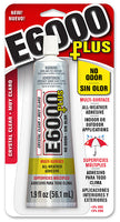 E6000 Plus NO ODOR Multi-Surface All-Weather Crystal Clear Adhesive - 1.9 oz./56.1ml