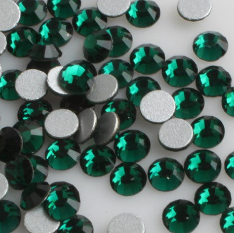 Emerald Green Glass Crystal Glass Rhinestone - SS12, 1440 pieces - 3mm Flatback, Round, Loose Bling - TheDecoKraft - 1