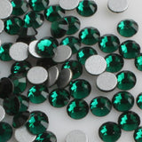 Emerald Green Crystal Glass Rhinestones - SS34, 288 pieces - 7mm Flatback, Round, Loose Bling - TheDecoKraft - 1